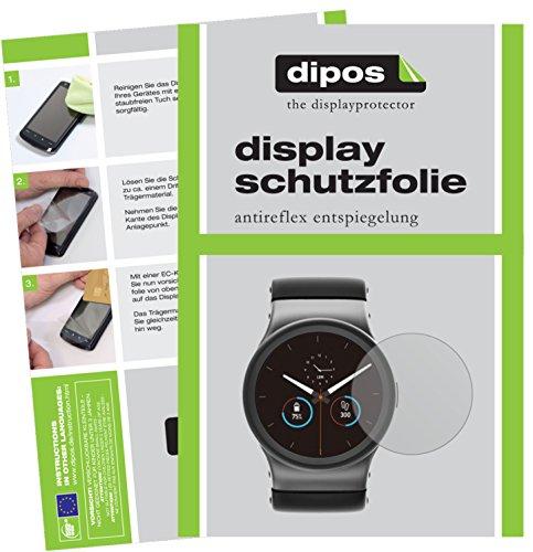 dipos I 6X Schutzfolie matt kompatibel mit Uhr 36 mm Durchmesser Folie Displayschutzfolie