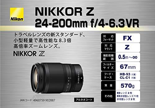 Nikon(ニコン)『NIKKORZ24-200mmf/4-6.3VR』
