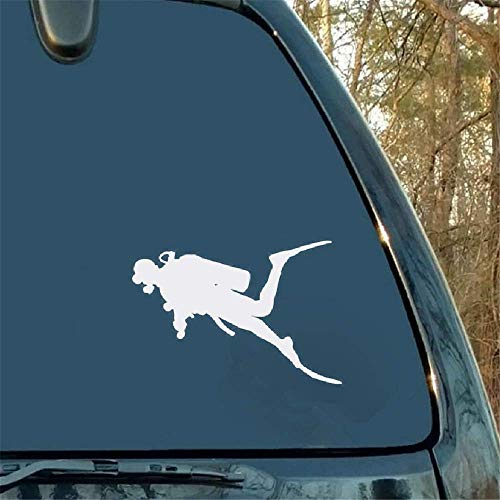 20.5x13.9Cm Interessante Duiker Duiken Snorkeling Auto Stickers Decals voor Auto Laptop Window Sticker