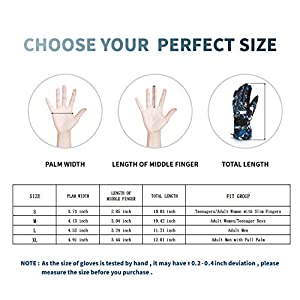 Ski Gloves Warm Winter Snow Gloves Waterproof Windproof And Breathable Snowboard Gloves For Men Women Kids Gifts