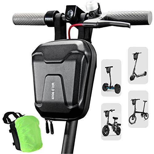 LUROON Scooter Lenkertasche 2.5L Große Kapazität Roller Vordere Tasche Wasserdicht Elektro Scooter Tasche mit Regenhülle, Scooter Vordertasche für Xiaomi M365 etc (Schwarz)