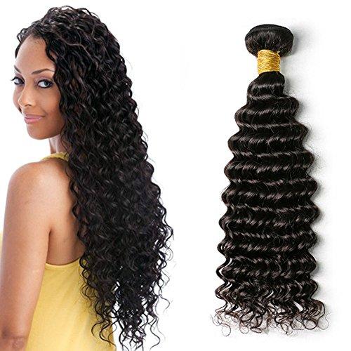Moresoo 12pouces/30cm Deep Wave Tissage Naturel Remy Hair Cheveux Naturels Bresilienne Vierges Cheveux Humains Weaving Extensions 100gram/bundle