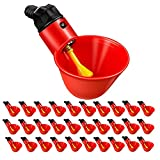 HEROCO 30PCS Poultry Drinking Watering Cups for Chicken,Quail Water Cups Drinker Automatic Farm,Fully Automatic Poultry Drinking Machine Chicken Drinking Cup for Chicken Quail Pigeon (Red)