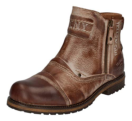 Yellow Cab Schuhe Reduziert Boots Soldier 16016 Cognac, Größe:42 EU