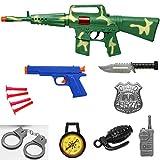 Ak47 Military Toy Machine Gun Army Rifle Playset 16 Inches 9 Pcs