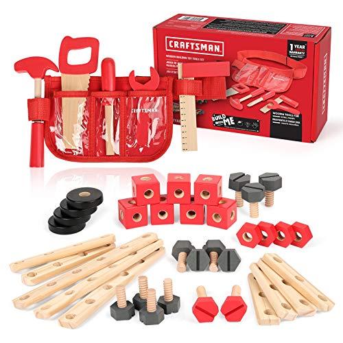 Craftsman Wooden Building Toy Tools Set, Building Toy Set...