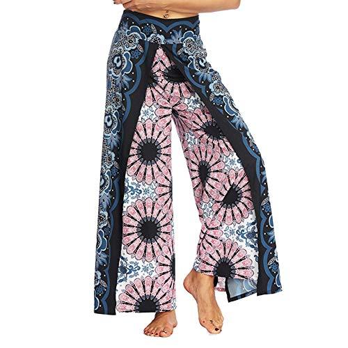 Riou Yogahosen Damen Sommer Boho Thailand Stil Locker Bein Marlene Hosen Sporthose Pumphose Haremshose Schlabberhose