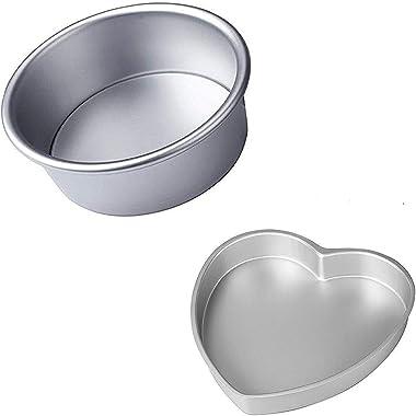 Kanshita's Rasoiware Aluminium Cake Mould Oven/ Cooker Safe ( Set of 2, 7inch)