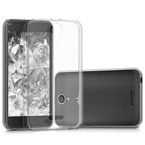 kwmobile Hülle kompatibel mit Wiko Harry - Silikon Handyhülle transparent - Handy Hülle in Transparent
