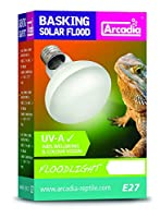 SBF50 - Wattage 50W - Kelvin 3, 200K - UVA - Fitting E27 Increases ambient temperature Includes UVA to aid wellbeing and colour vision Use with a thermostat and alongside a species appropriate Arcadia reptile UVB system Infra-red