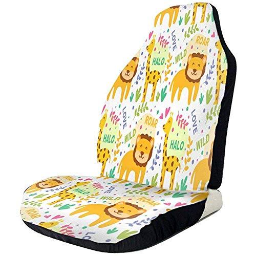 Alice Eva Sièges d'auto Couverture Giraffe Lion Love Motif Seau Protecteur De Siège Universel Sièges Avant Couverture Avant Sièges Couverture