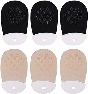 Puimentiua, 1/3/6 Pares Calcetines Invisibles de Mujer Yoga Calcetines Cortos Medios de Algodón Non Slip para Gimnasio