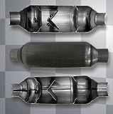 Jones Exhaust Flowpack Muffler JFP250 2.50 Inch Inlet / Outlet