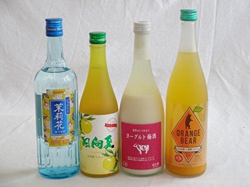 果実酒5本セット 牛乳リキュール(大分県)×ヨーグルト梅酒(福岡県)×日本酒オレンジ(三重県)×ジャスミンリキュール 720ml×2本 500ml 6