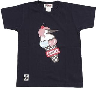 チャムス 半袖シャツ ジュニア Kid's Double Ice Cream T-Shirt キッズダブルアイスクリームTシャツ CH21-1075 Navy 110