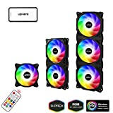 upHere 720mm RGB LED with Remote control PC Cooling Fan Ultra Quiet High
