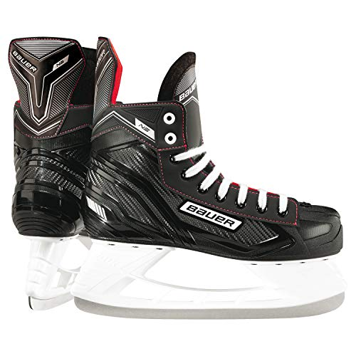 Bauer Children's NS Junior Ice Skates, Black/red, 36 (EU)