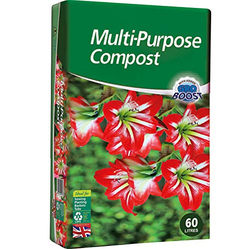 KEPLIN Multi-Purpose Compost Soil Contains Nutrients for Plants - Nutrient Rich Compost Mix for Potting, Growing Garden, Outdoor, Indoor Seed Plants (60L)