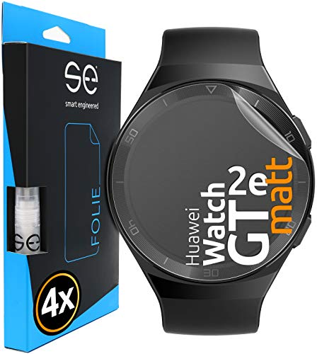 3D Película Protectora - Protector de Pantalla para Huawei Watch GT 2e [4 unidades | smart engineered] - Pelicula vidrio TPU -Estera, Case-friendly, Sin vidrio pero Lámina Blindada de TPU