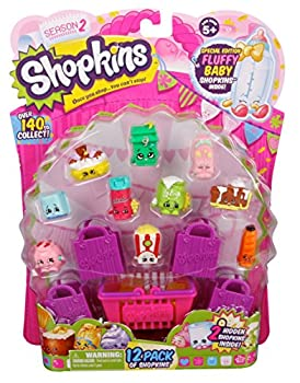 Shopkins Season 2 Mini Packs Toys   Pack of 12 that Help to Enhance Shopping Imagination for Kid Above 3   Complete Ultimate Collection   Different Cutest Characters May Vary in Every Pack
