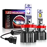 Ampoule H11 LED, XENPLUS 60W 10600LM, 350% 6500K 5530 Chips Extrêmement Lumineuses, Ampoules Auto de Rechange Pour Lampes Halogènes et Kit Xenon, 2 Ampoules