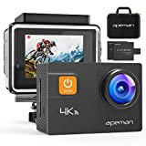 APEMAN A80 Action Camera 4K WiFi 20MP 40M Waterproof 4X Zoom Sports Camcorder Gyroscope Anti-Shaking with Portable Carrying Bag