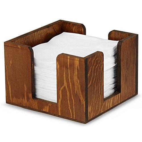 Porte-serviettes à cocktail en bois – Organiseur de bar pour contenir jusqu'à 100 serviettes à cocktail