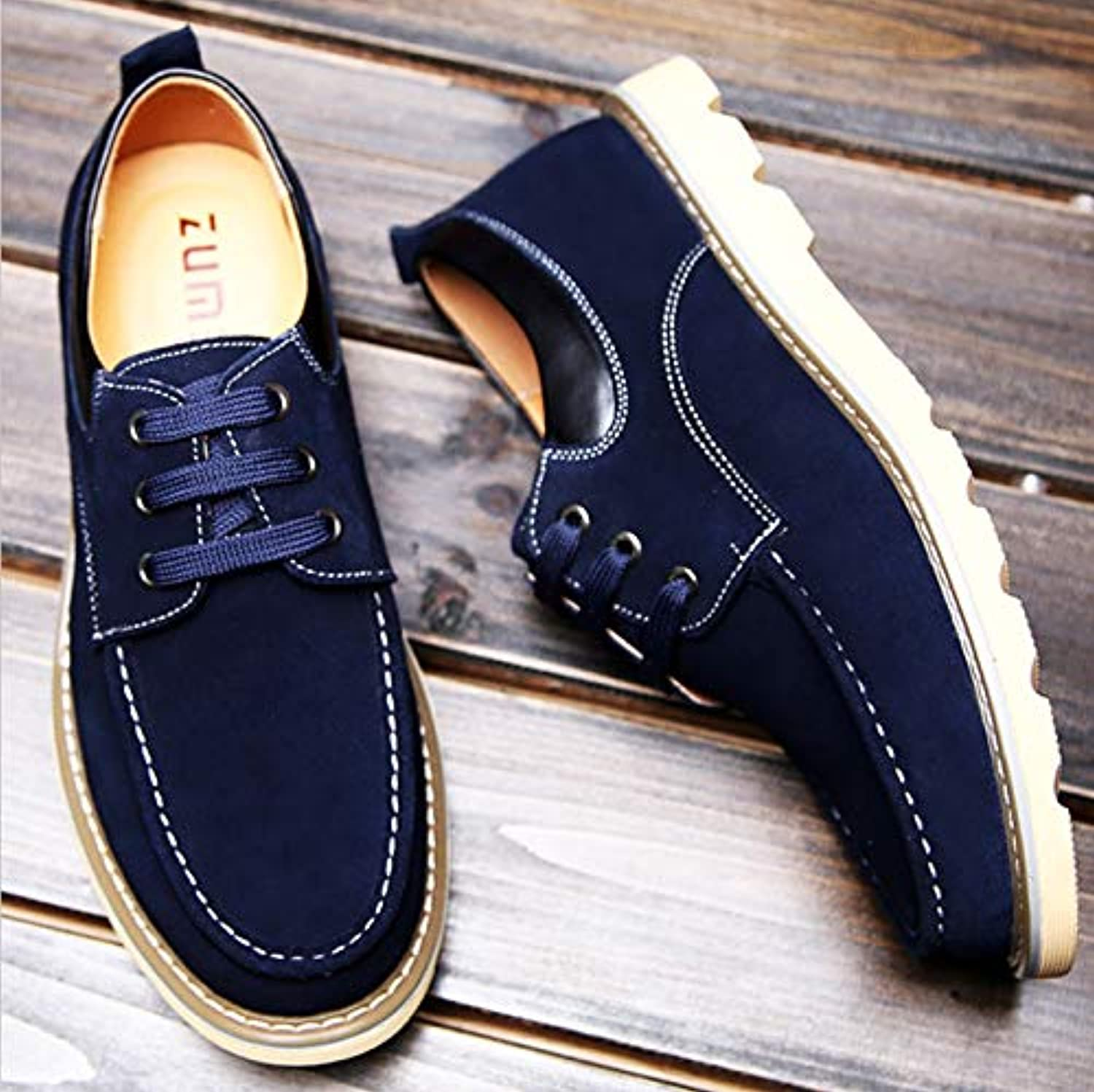 LOVDRAM Men'S Leather shoes Spring And Autumn Casual shoes Men'S Fashion shoes Comfortable Single shoes Casual shoes