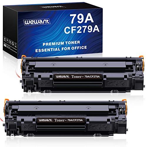 Wewant Toner 79A CF279A Cartucce Toner Compatibile HP 79A CF279A per HP LaserJet Pro M12 M12a M12w HP LaserJet Pro MFP M26a MFP M26nw, Confezione da 2 Nero
