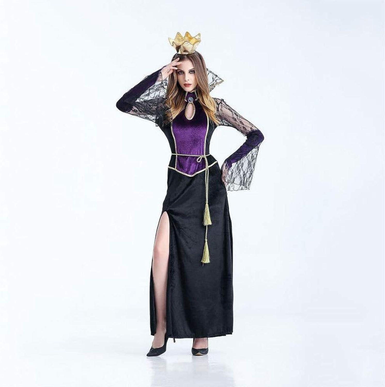 Olydmsky Halloween Costumes Women Halloween Cosplay Costume Female Vampire Black Ghost Bridal Masquerade Costume