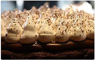 Indoor Floor Rug/Mat (23.6 x 15.7 Inch) - Brownie Pie Cake Cream