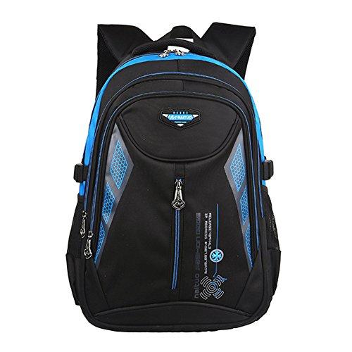 YipGrace Casuale Zaino Unisex Impermeabile Elementare Zaino per bambini Zaino per ragazze ragazzi donne uomini e bambini per la scuola con tasca per laptop Blu