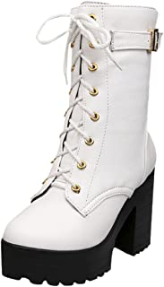 d7315cf2443 Amazon.com: White - Mid-Calf / Boots: Clothing, Shoes & Jewelry