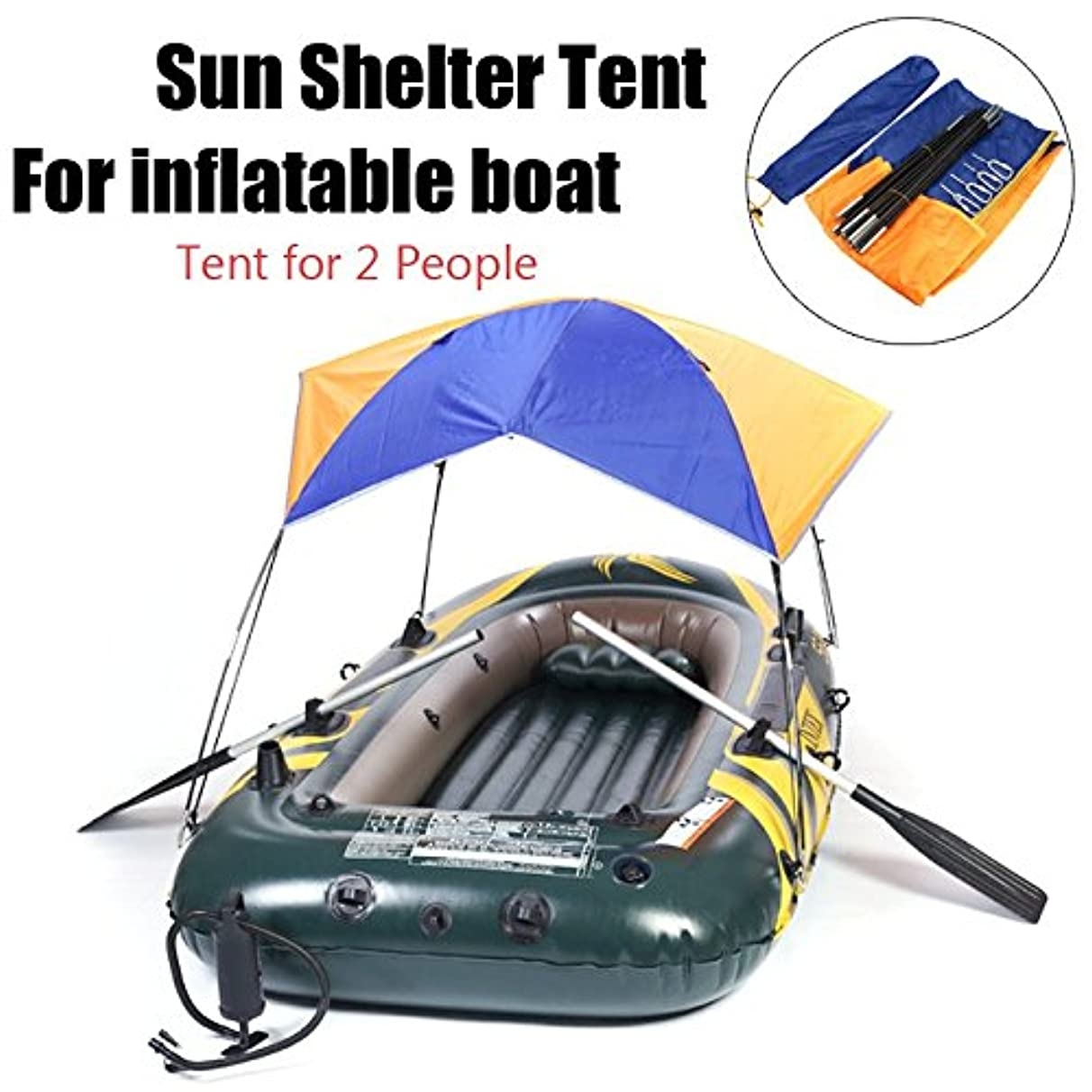 WOOT Inflatable Boat Tent Dinghy Folding Awning Fishing Resting Picnic Mountain Inflatables Sun Canoe Shade Shelter Sailboat Top Cover Rain Canopy Hovercraft Sunshade Uv Protection Tents