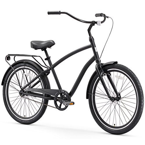 For Sale! sixthreezero EVRYjourney Men's Single Speed Hybrid Cruiser Bicycle, Matte Black w/Black Se...