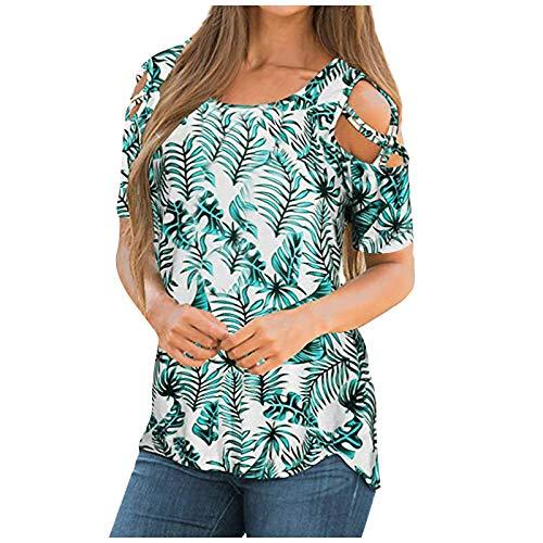 RONGYP Blusa elegante para mujer, con cierre de cremallera, de manga larga, túnica, cuello en V, para verano, suelta verde XXL