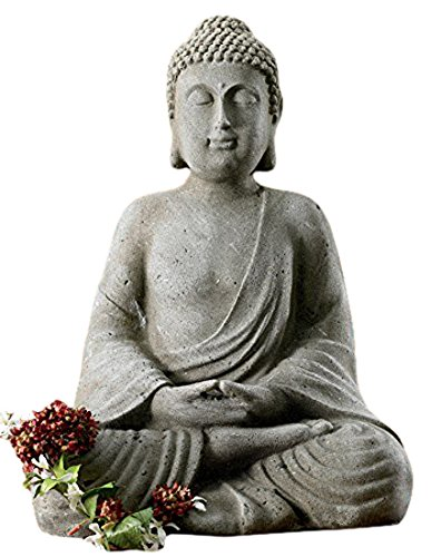 KINDWER Serene Meditating Buddha Statue, 20' Tall