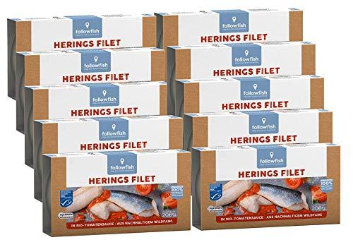 Followfish MSC Heringsfilets in Bio-Tomatensauce, 10 stück