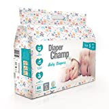 No Harmful Chemicals and Clinically Proven Hypoallergenic - Diaper Champ Baby Diapers (from Netherlands) are 100% free of Parabens, Chlorine, Bleach, Fragrance, Lotion, Latex and Dye. Made of USA imported virgin wood pulp, German imported super absor...