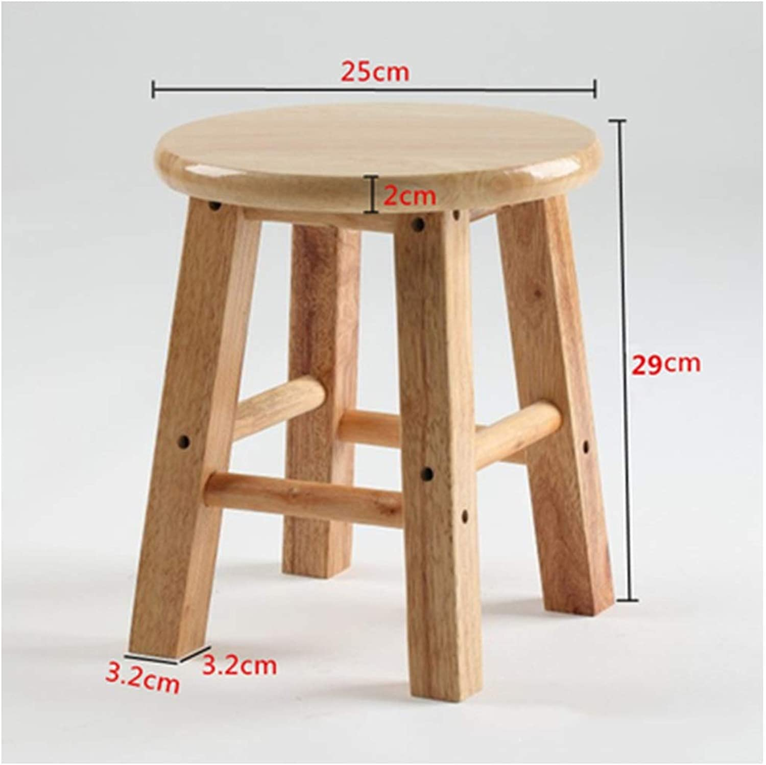 B.YDCM Wooden Bench- Stylish and Durable Oak Small Stool Stool Wood Bench Small Bench shoes Bench Stool - Wood Bench (Size   Large)