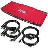 TESmart DisplayPort Dual Monitor KVM Switch Support UHD 4K@60Hz USB 2.0 Devices Control up...