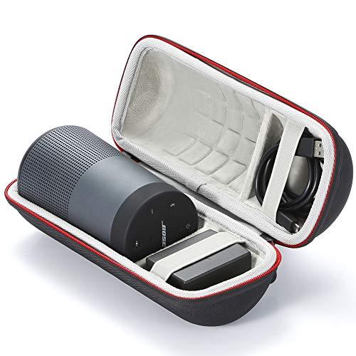 Custodia Rigida da Viaggio Trasportare Eva Borsa per Bose SoundLink Revolve Bluetooth Speaker. Adatto al cavo USB e al caricabatterie da parete-Nero