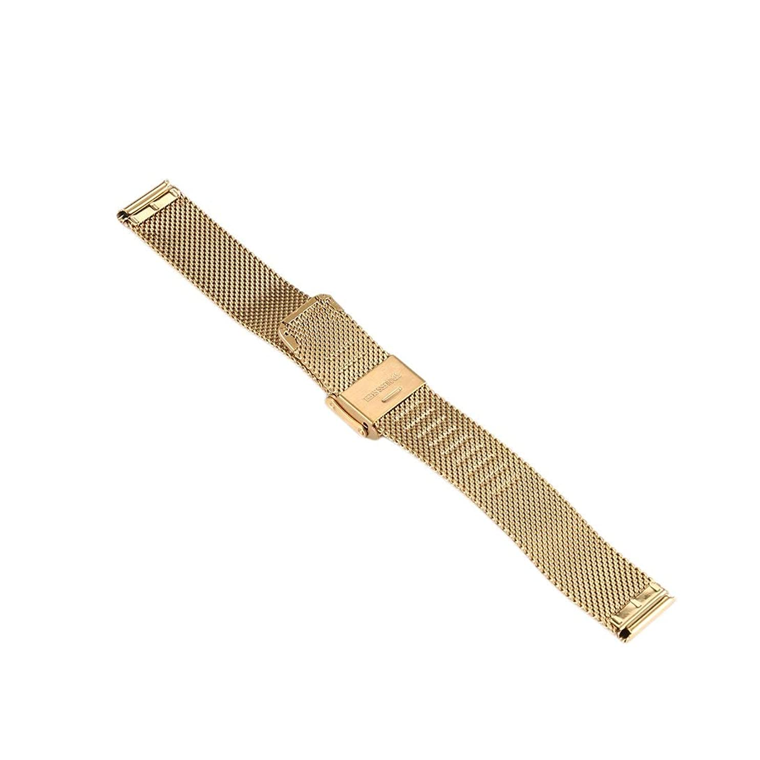 算術先史時代の研究Swiftgood 16mmの贅沢な網の腕時計バンド、人および女性のためのステンレス鋼のMilaneseの時計バンドの取り替え