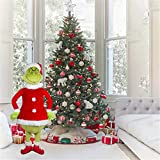 24' Christmas Doll How The Lifelike Grinch Stole Stuffed Plush Toy Xmas Kids Gifts, Winter Christmas Holiday Home Decor Party Supplies Traditional Ornament
