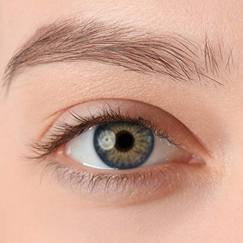 Stark deckende, natürliche Kontaktlinsen in der Farbe Nymphe Blue, aus der PREMIUM Kollektion geeignet für dunkle Augen, Silikon Hydrogel der Marke LUXDELUX