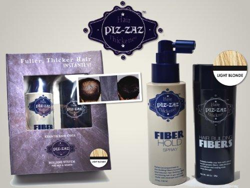 Piz-zaz Fibres Capillaires Reconstructives Bio Systeme Epaississeur de Cheveux Dissimule Instantanement la Calvitie 28gr \
