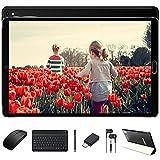 Tablet 10 Pulgadas 4GB RAM 64GB ROM Android 10 Pro GOODTEL Tableta con 8 Core 1,6GHz | Cámara Dual 5MP + 8 MP | Batería 8000mAh | WiFi | Bluetooth | MicroSD 4-128GB, con Teclado y Ratón, Negro