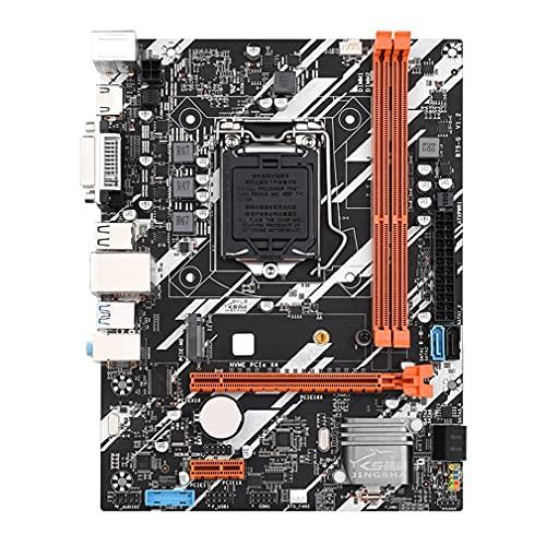 Placa Base B75-G Lga 1155 DDR3 VGA DVI Sataiii USB3.0 para Intel LGA1155 Negro