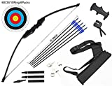 dostyle Takedown Recurve Bow and Arrow Set Outdoor Archery Hunting Shooting Target Practice Training Longbow with Arrow Quiver (40 LB)