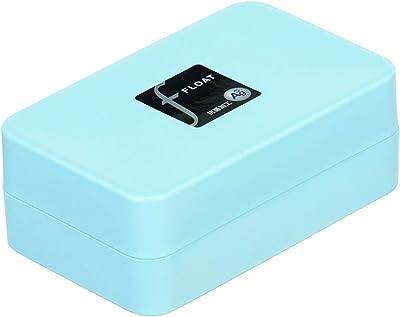 トンボ 石けん箱 水切り 皿付き 日本製 幅11×奥行7×高さ4.5cm 抗菌 ブルー フロート 新輝合成